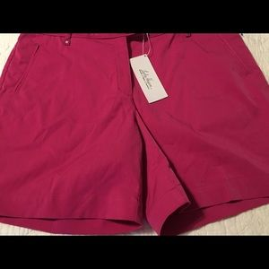 Lady Hagen Fuchsia Red Golf Shorts Size 12